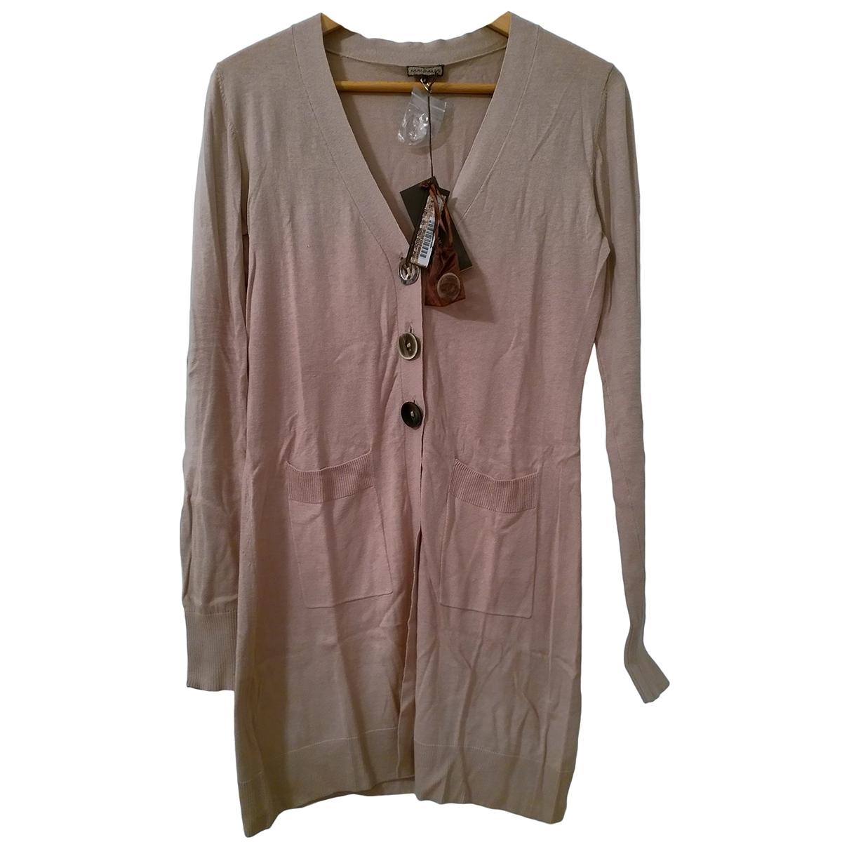 Maliparmi - Pull   pour femme en soie - beige