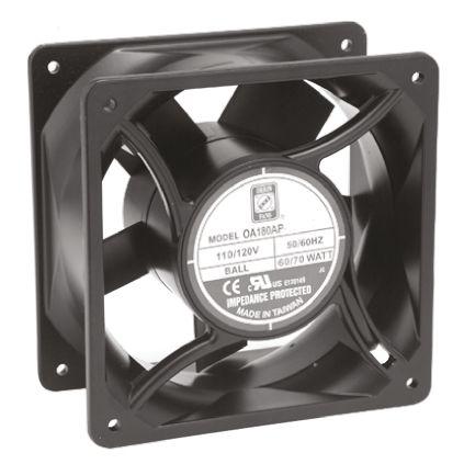 RS PRO , 230 V ac, AC Axial Fan, 120 x 120 x 38mm, 120.6m³/h, 11W