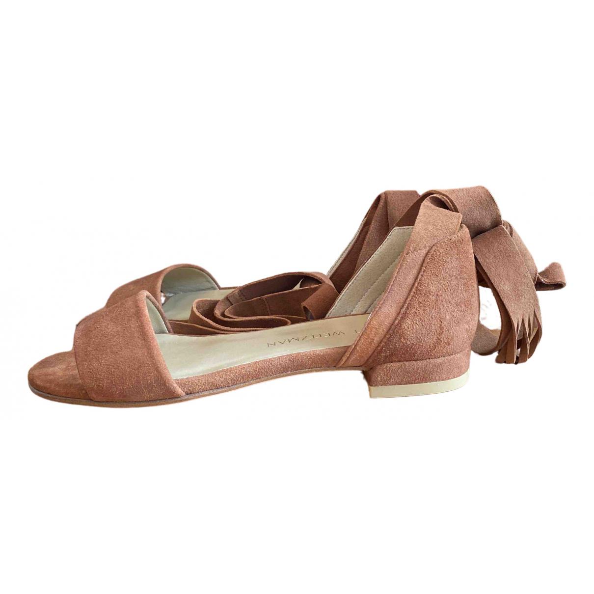Stuart Weitzman \N Brown Suede Sandals for Women 35.5 EU