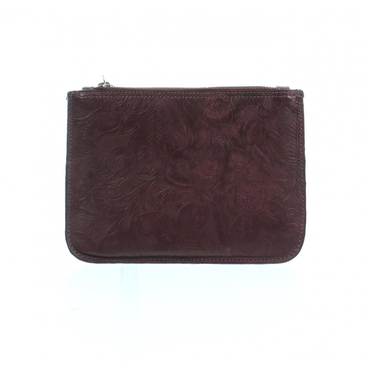 Zimmermann \N Clutch in  Bordeauxrot Leder