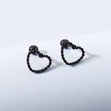 Maenner Ohrringe mit Herzen Design