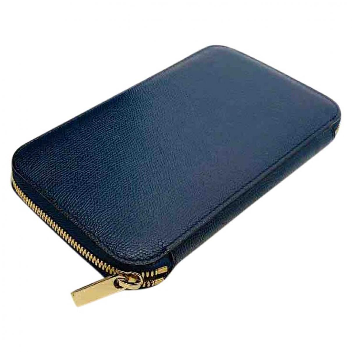 Valextra - Portefeuille   pour femme en cuir - bleu