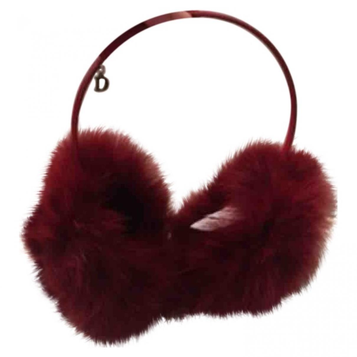 Dior - Bijoux de tete   pour femme en renard - rouge