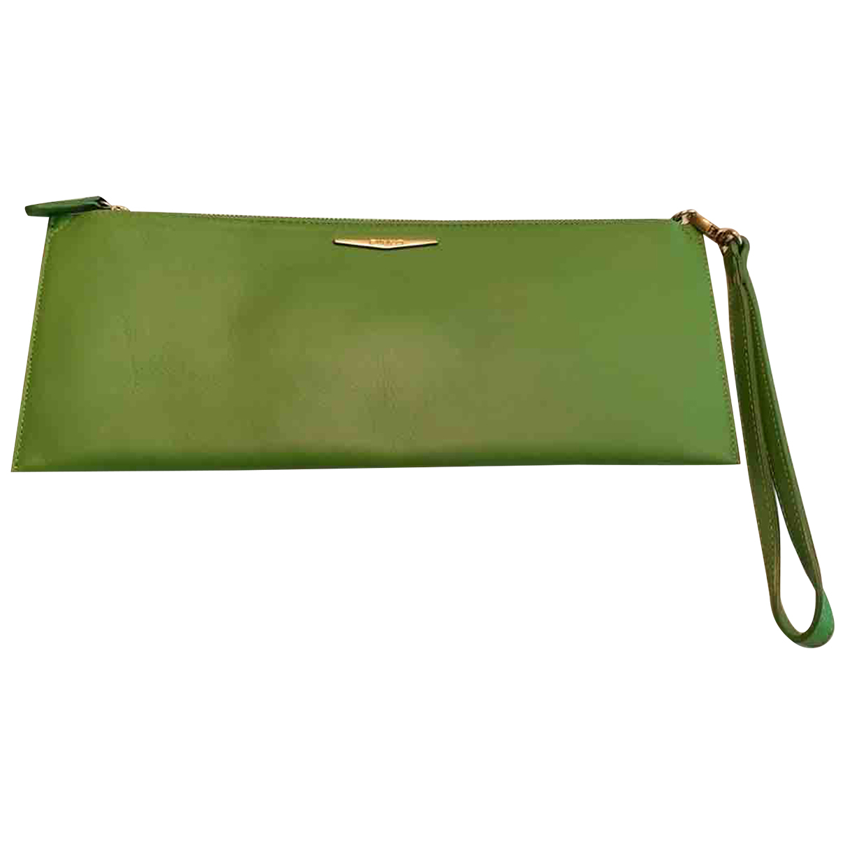 Pinko N Green Leather Clutch bag for Women N