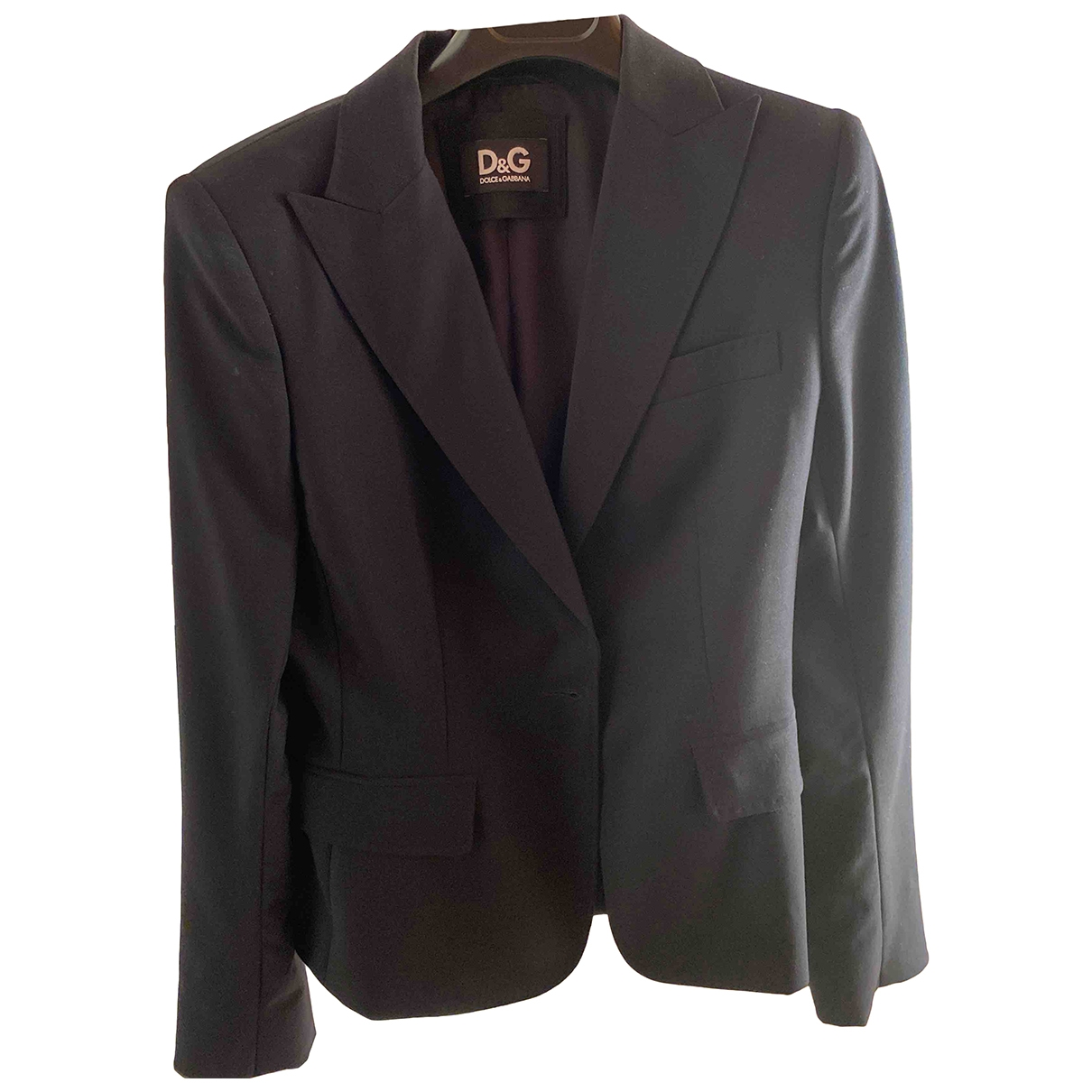 D&g \N Black Cotton jacket for Women 42 IT