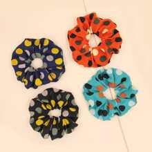 4pcs Polka Dot Pattern Scrunchie