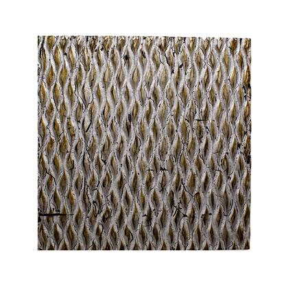 BM205907 Modern Style Wooden Wall Decor with Patterned Carving  Large