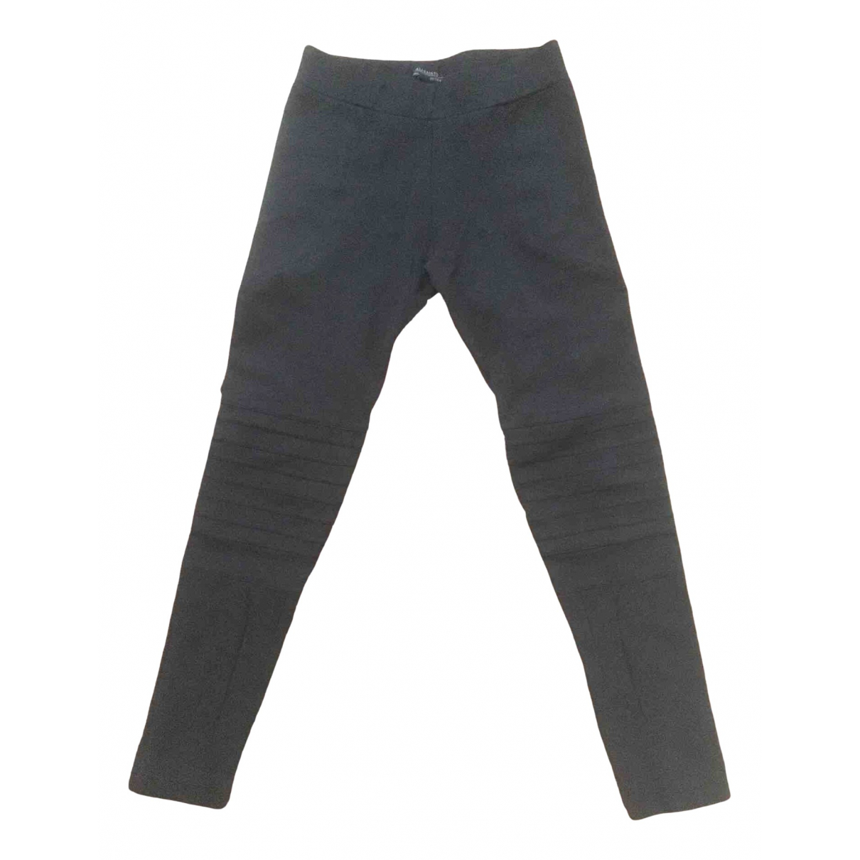 All Saints \N Black Cotton Trousers for Women 6 UK