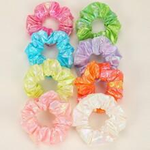 8pcs Colorful Shiny Scrunchie
