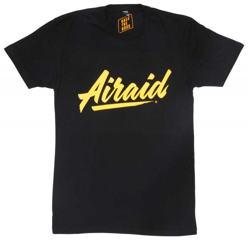 T-Shirt; Black, Gold Airaid 999-380-XL Logo, X-Large