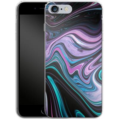 Apple iPhone 6s Plus Silikon Handyhuelle - Digital Swirl von #basic
