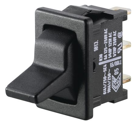 Marquardt SPDT Toggle Switch, Latching, IP40, Panel Mount