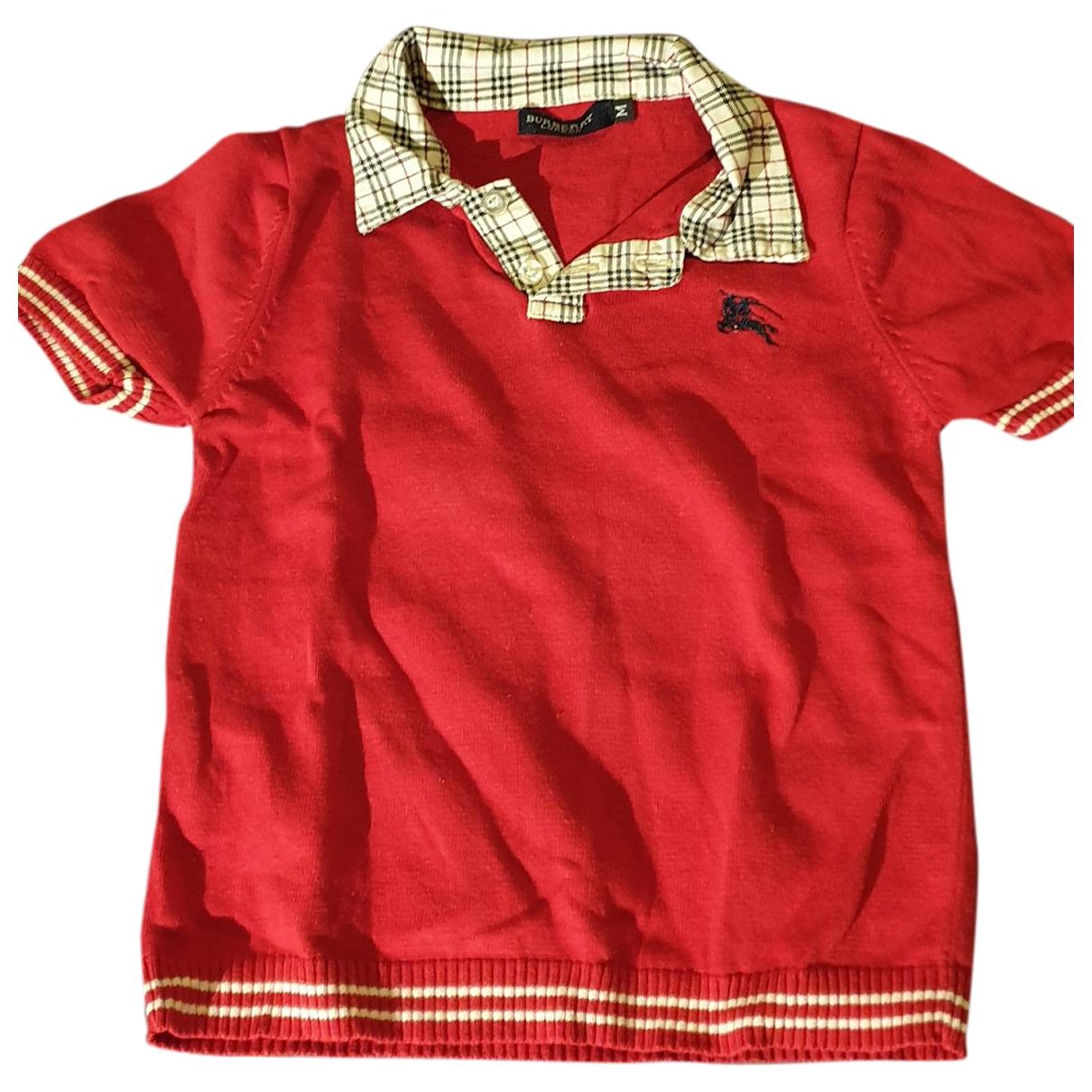 Burberry - Top   pour enfant en coton - rouge
