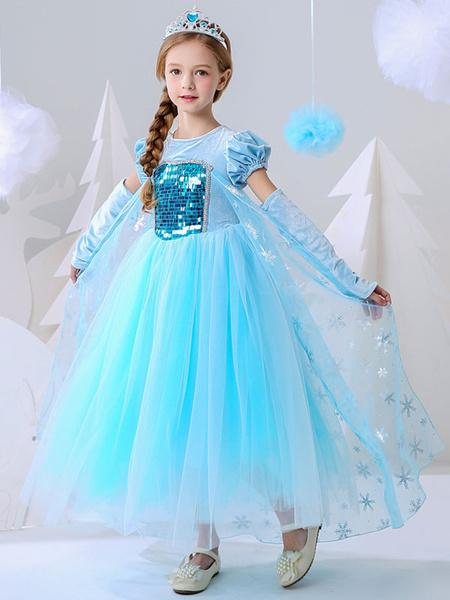 Milanoo Flower Girl Dresses Jewel Neck Short Sleeves Sequins kids social party dresses