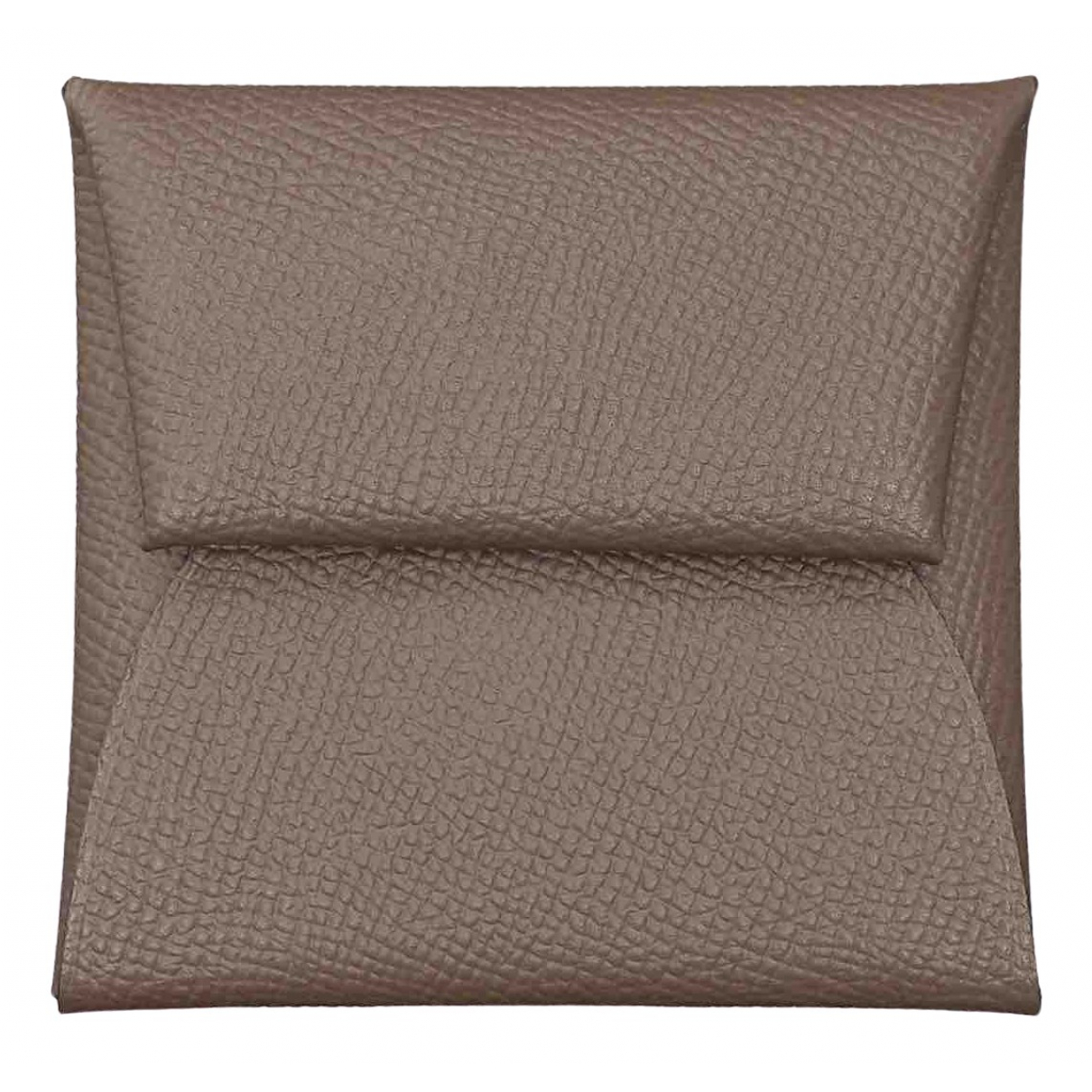 Hermès \N Grey Leather Small bag, wallet & cases for Men \N