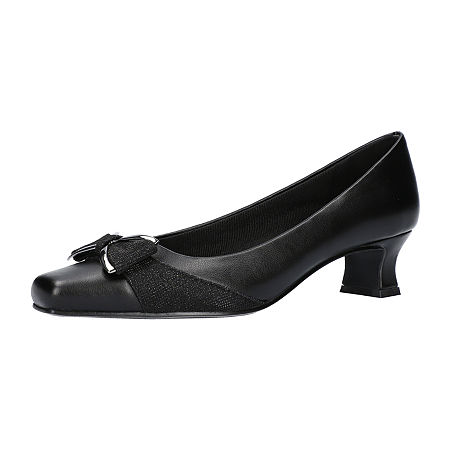 Easy Street Womens Rejoice Pumps Spike Heel, 5 1/2 Medium, Black