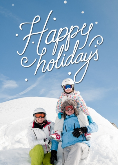 Holiday Photo Cards 5x7 Cards, Premium Cardstock 120lb with Scalloped Corners, Card & Stationery -Happy Holidays