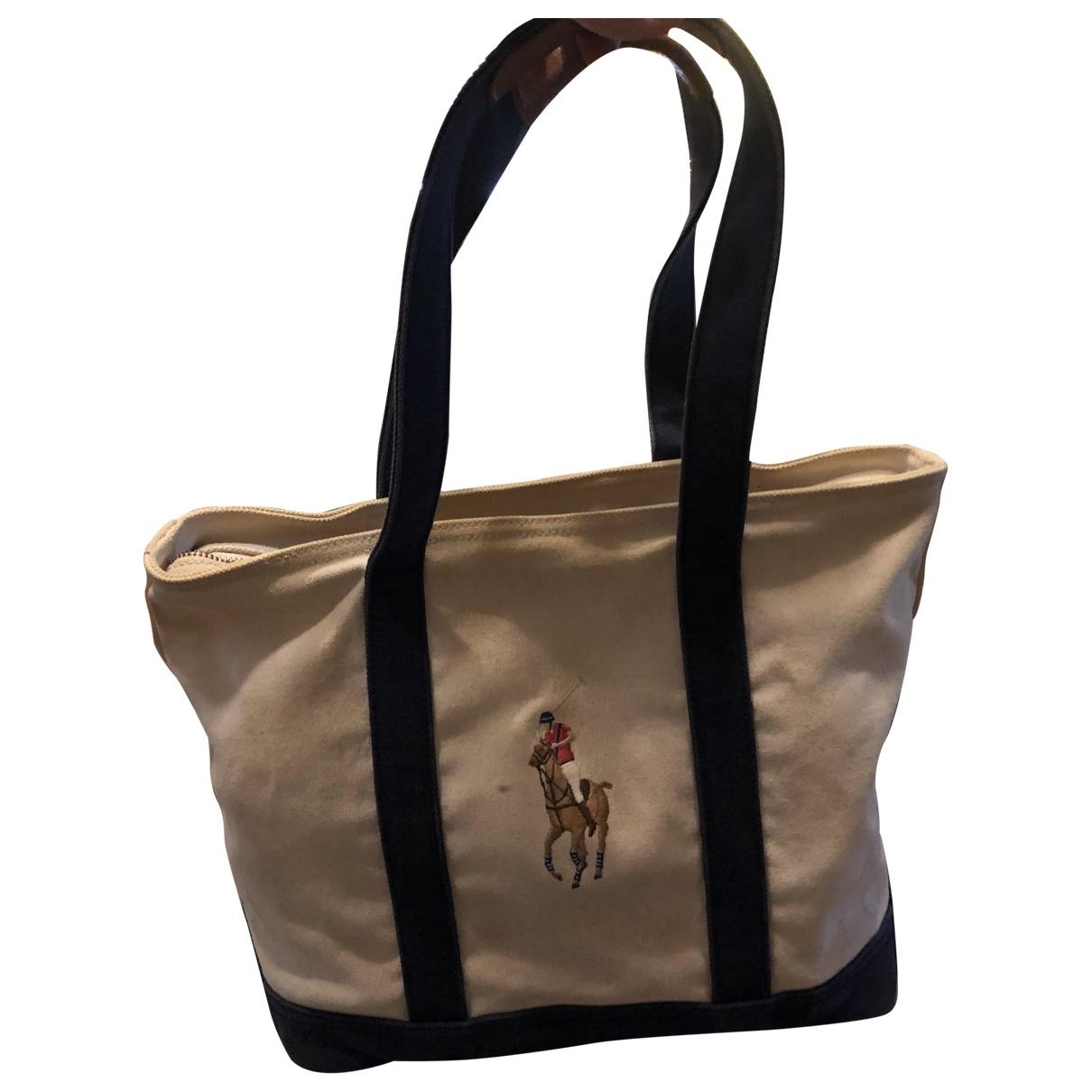 Ralph Lauren \N Handtasche in  Beige Denim - Jeans