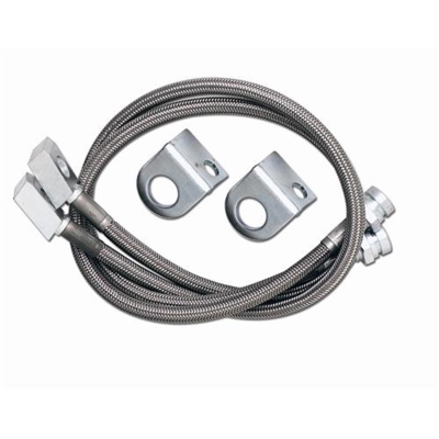 Rubicon Express 20 Inch Front Brake Line Set, Stainless Steel, Lifted Height of 4 in. to 6 in. - RE15531