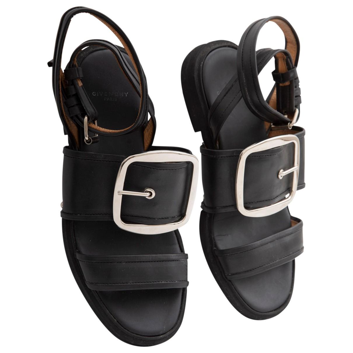 Givenchy - Sandales   pour homme en cuir - noir