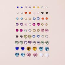 34 Paare Ohrstecker mit Herzen Design