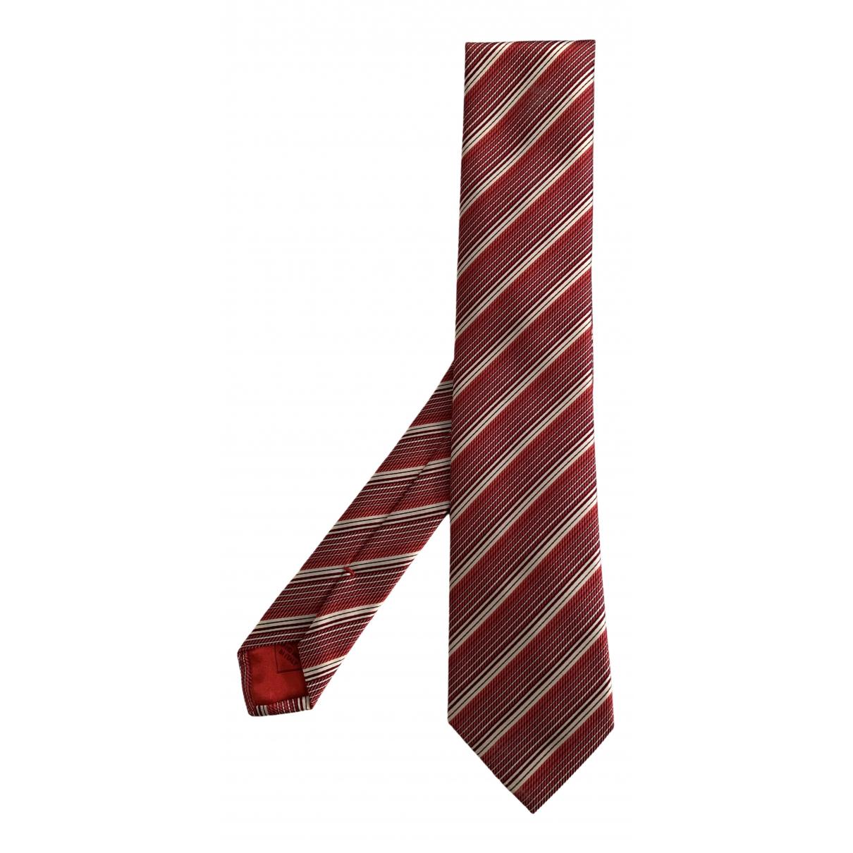 Brioni - Cravates   pour homme en soie - rouge