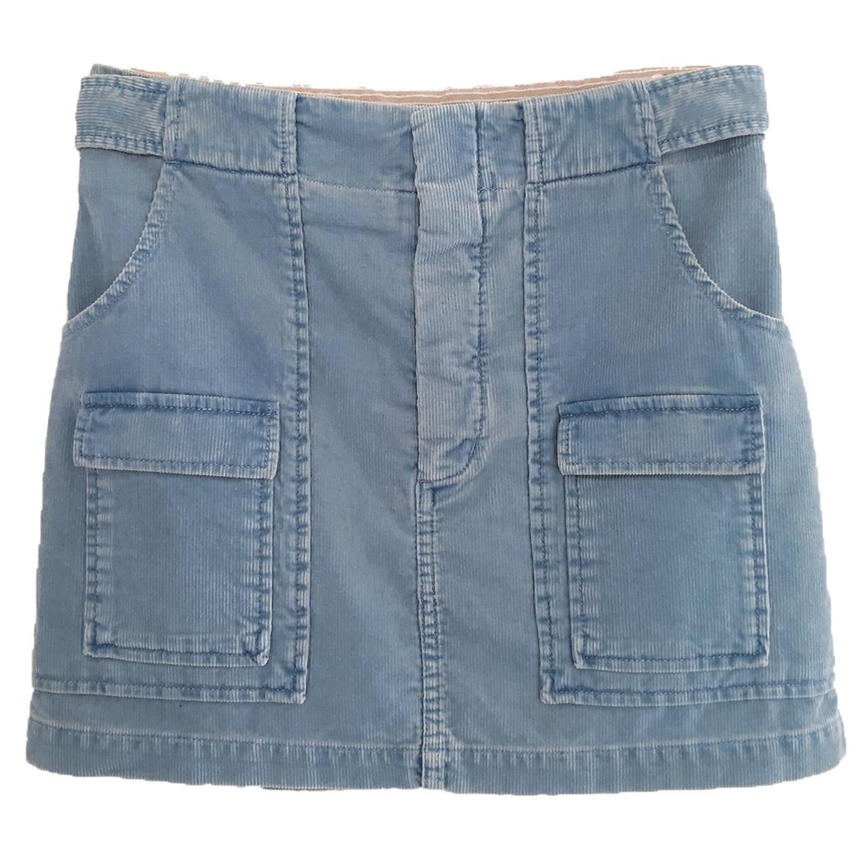 Chloe - Jupe   pour femme en coton - bleu