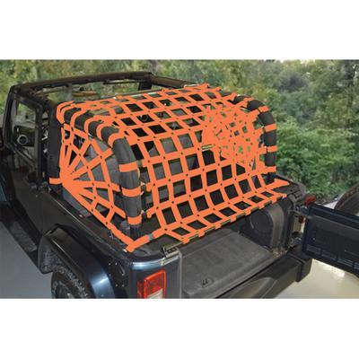DirtyDog 4x4 Rear Upper Cargo Netting with Spider Sides, Orange - D/DJ2NN07RSOR