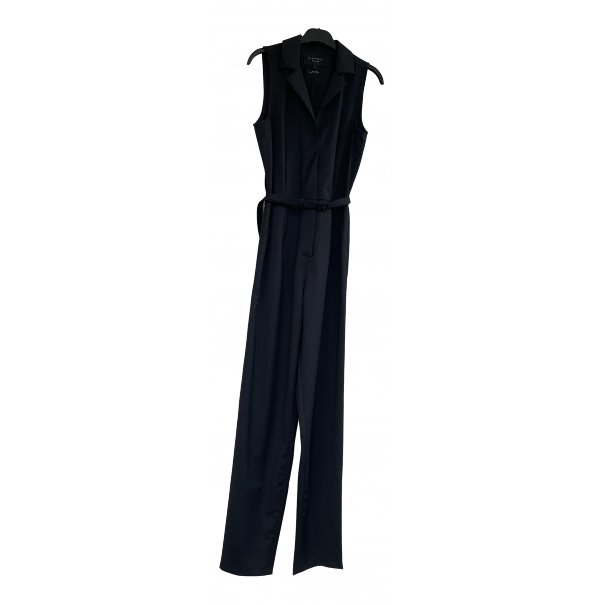 Equipment \N Black Wool jumpsuit for Women S International