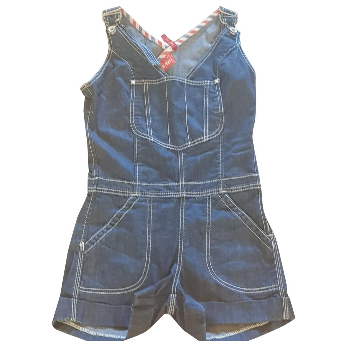 Guess \N Blue Cotton jumpsuit for Women 36 FR