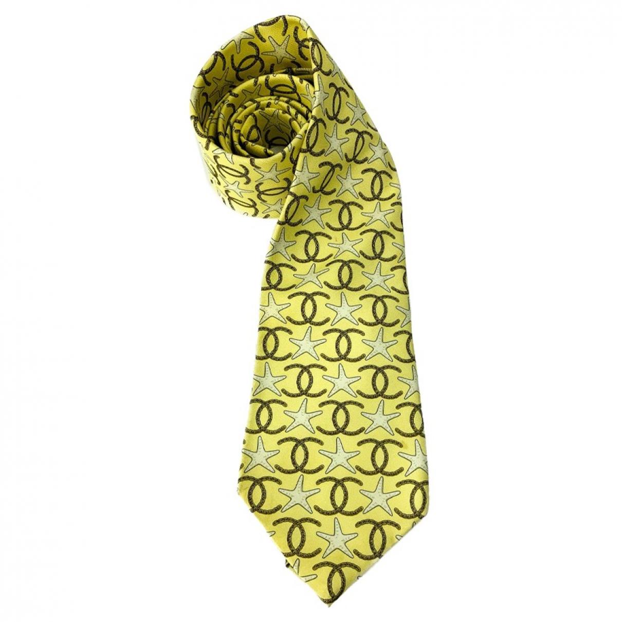 Chanel \N Krawatten in  Gelb Seide