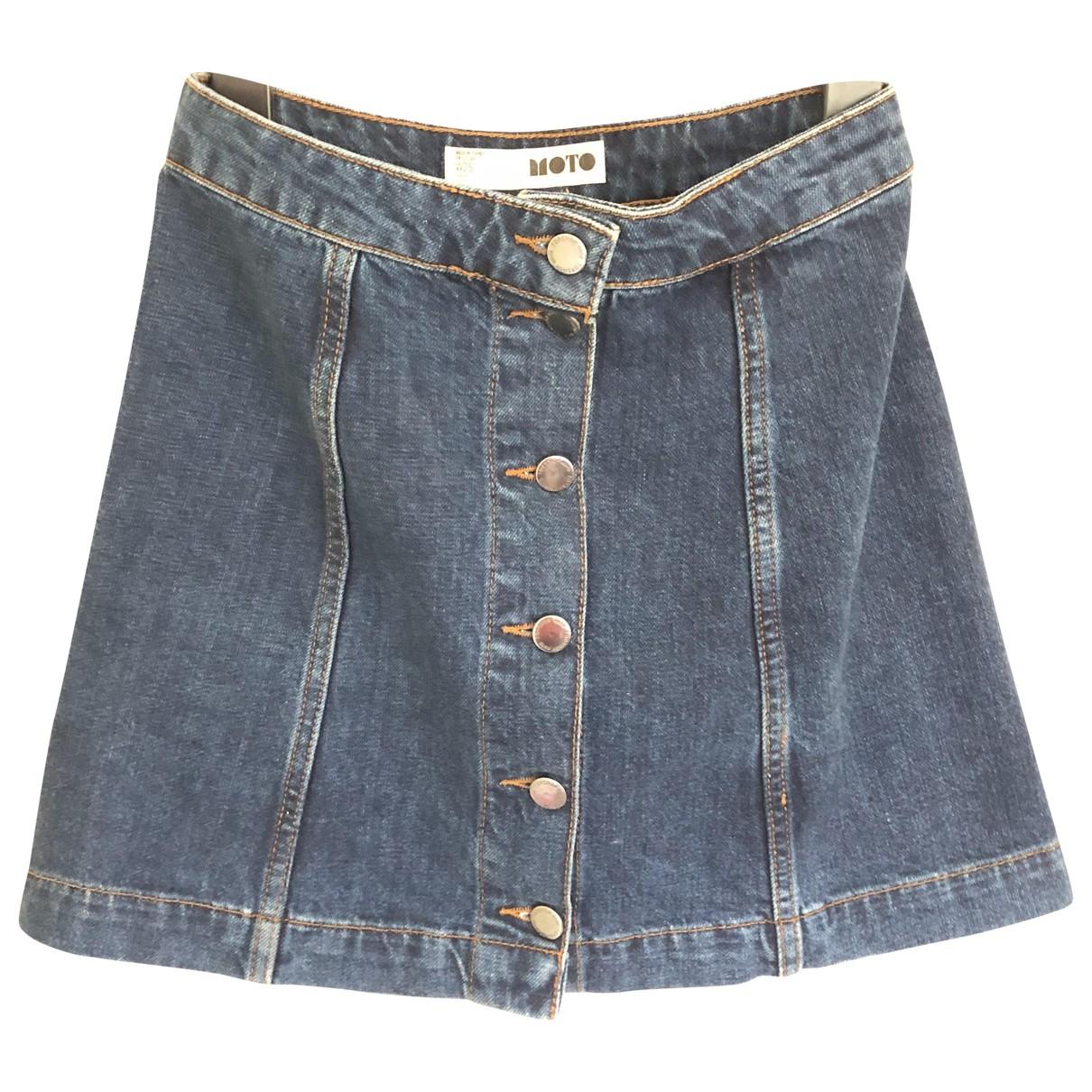 Topshop - Jupe   pour femme en denim - bleu