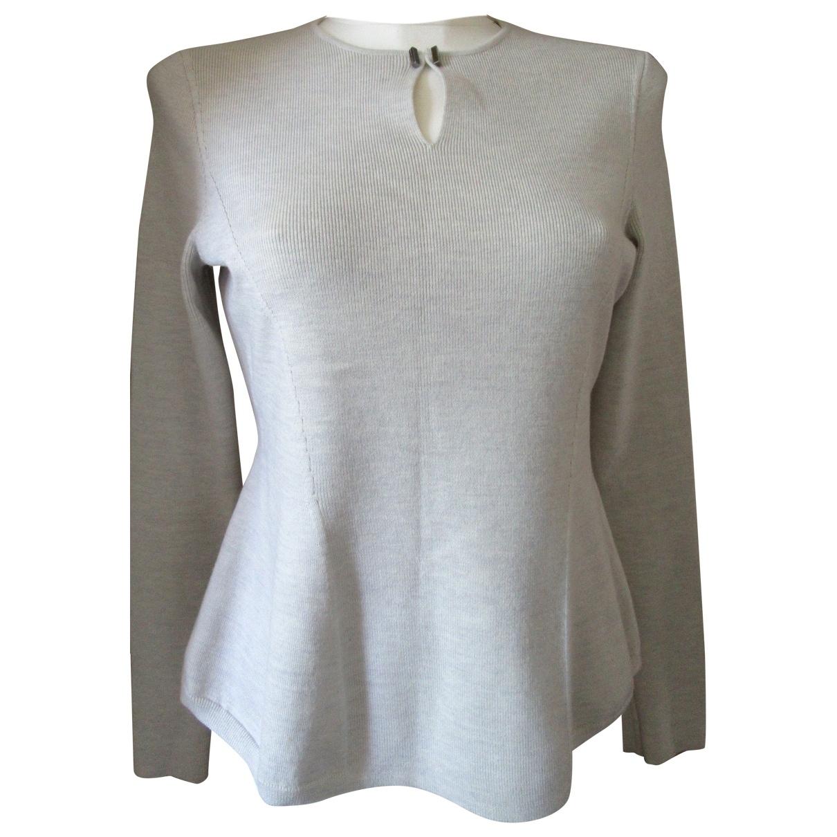 Boss - Top   pour femme en laine - gris