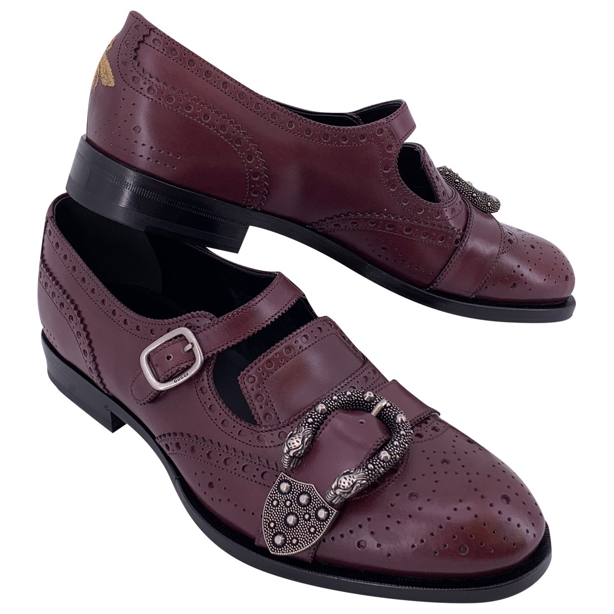 Gucci Queercore Burgundy Leather Lace ups for Men 42 EU