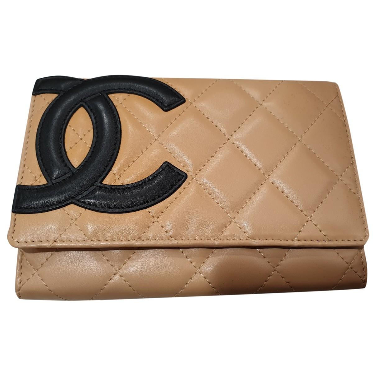 Chanel - Portefeuille Cambon pour femme en cuir - camel
