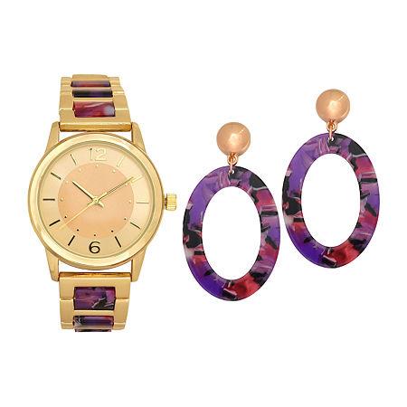 Geneva Womens Rose Goldtone Bracelet Watch-Wac7251jc, One Size , No Color Family