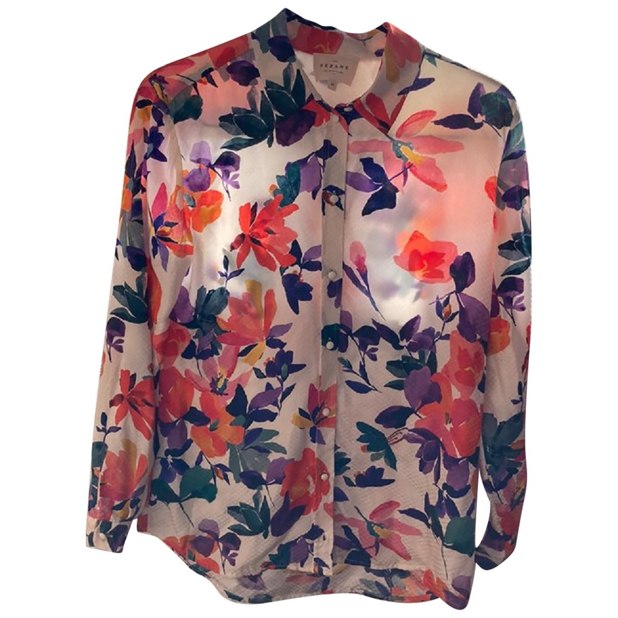 Sézane Spring Summer 2019 Multicolour Silk  top for Women 36 FR