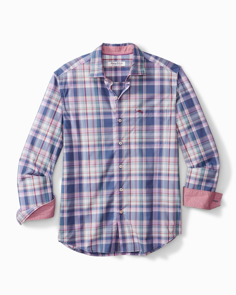 Big & Tall Newport Coast Tanga Plaid IslandZone® Shirt