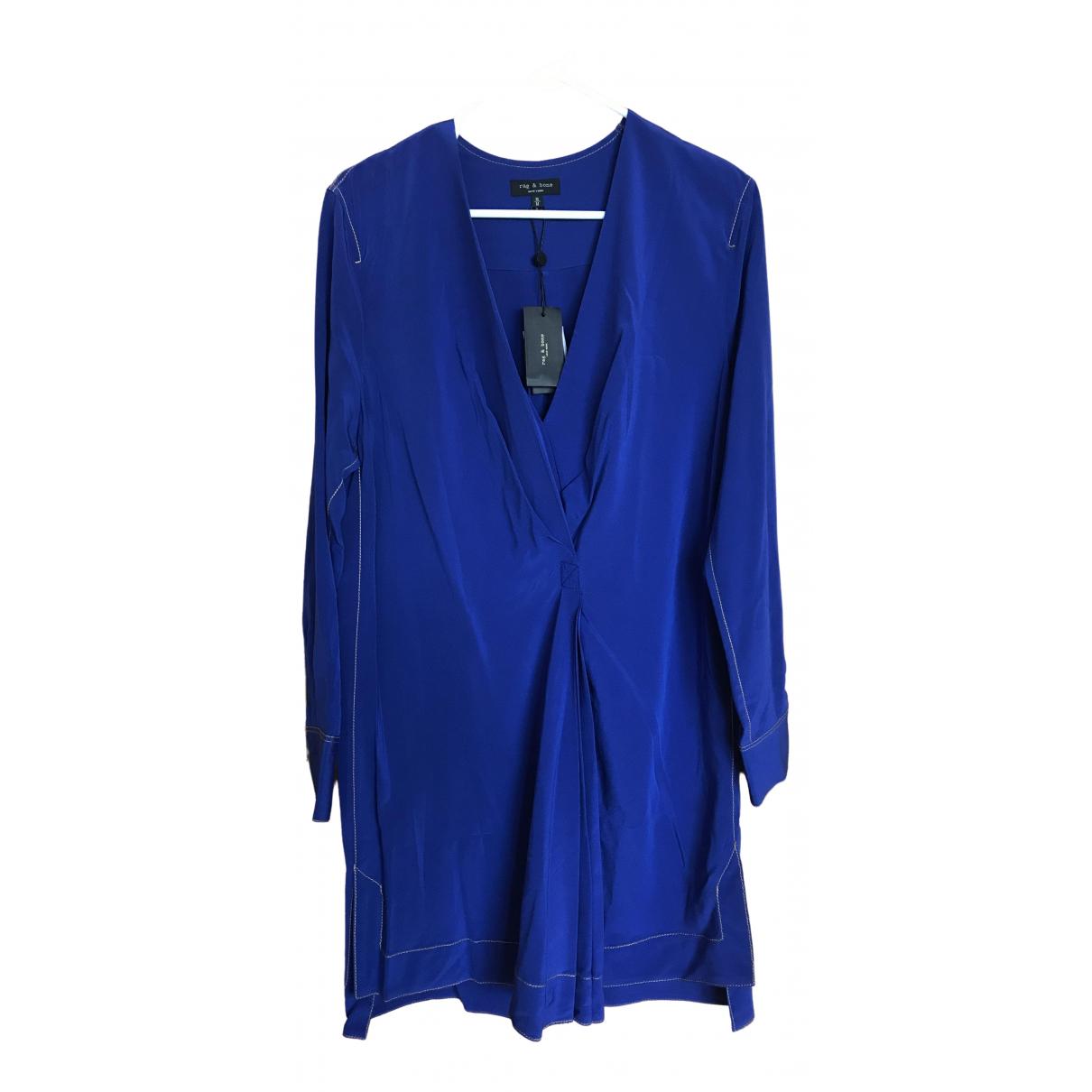 Rag & Bone \N Blue Silk dress for Women M International