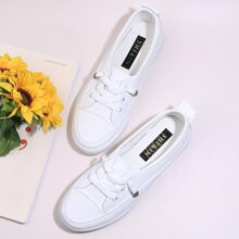 Lace-up Front Slip On Sneakers