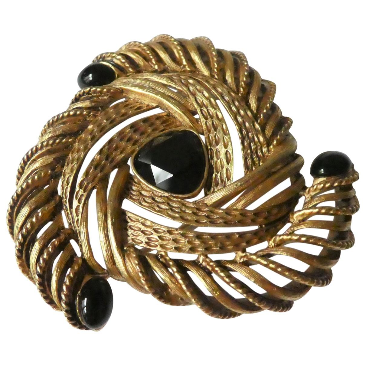 Oscar De La Renta \N Brosche in  Gold Metall
