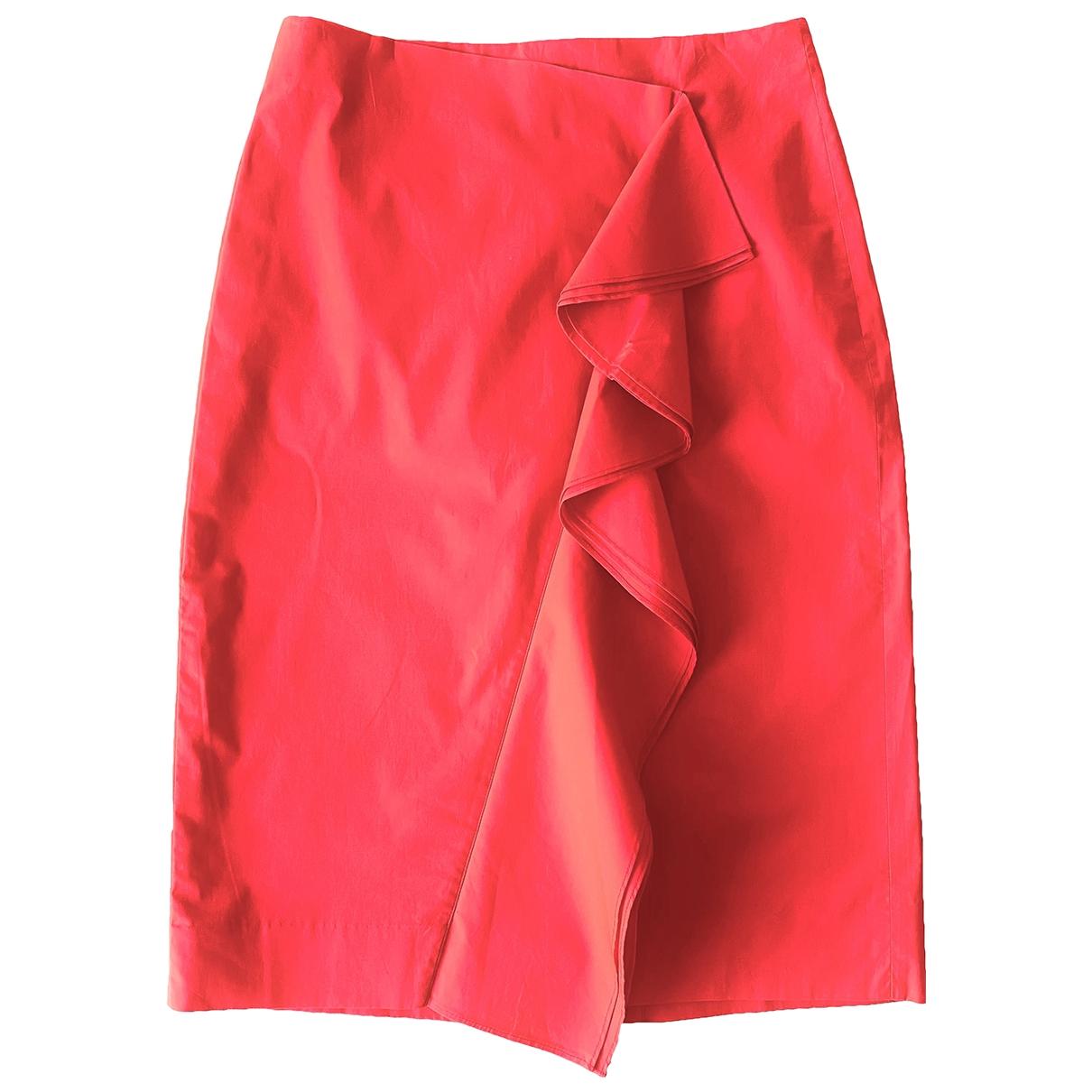 J.crew - Jupe   pour femme en coton - rouge