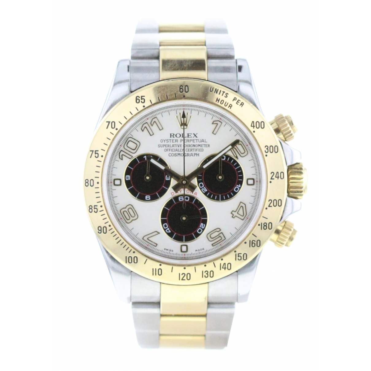 Rolex Daytona Silver gold and steel watch for Men \N