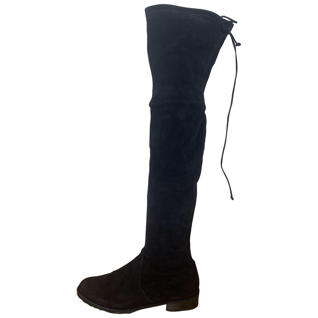 Stuart Weitzman \N Navy Suede Boots for Women 4 UK