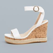 Ankle Strap Open Toe Platform Wedges
