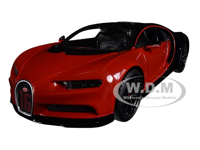 Bugatti Chiron Sport 16 Red and Black Special Edition 1/24 Diecast Model Car by Maisto