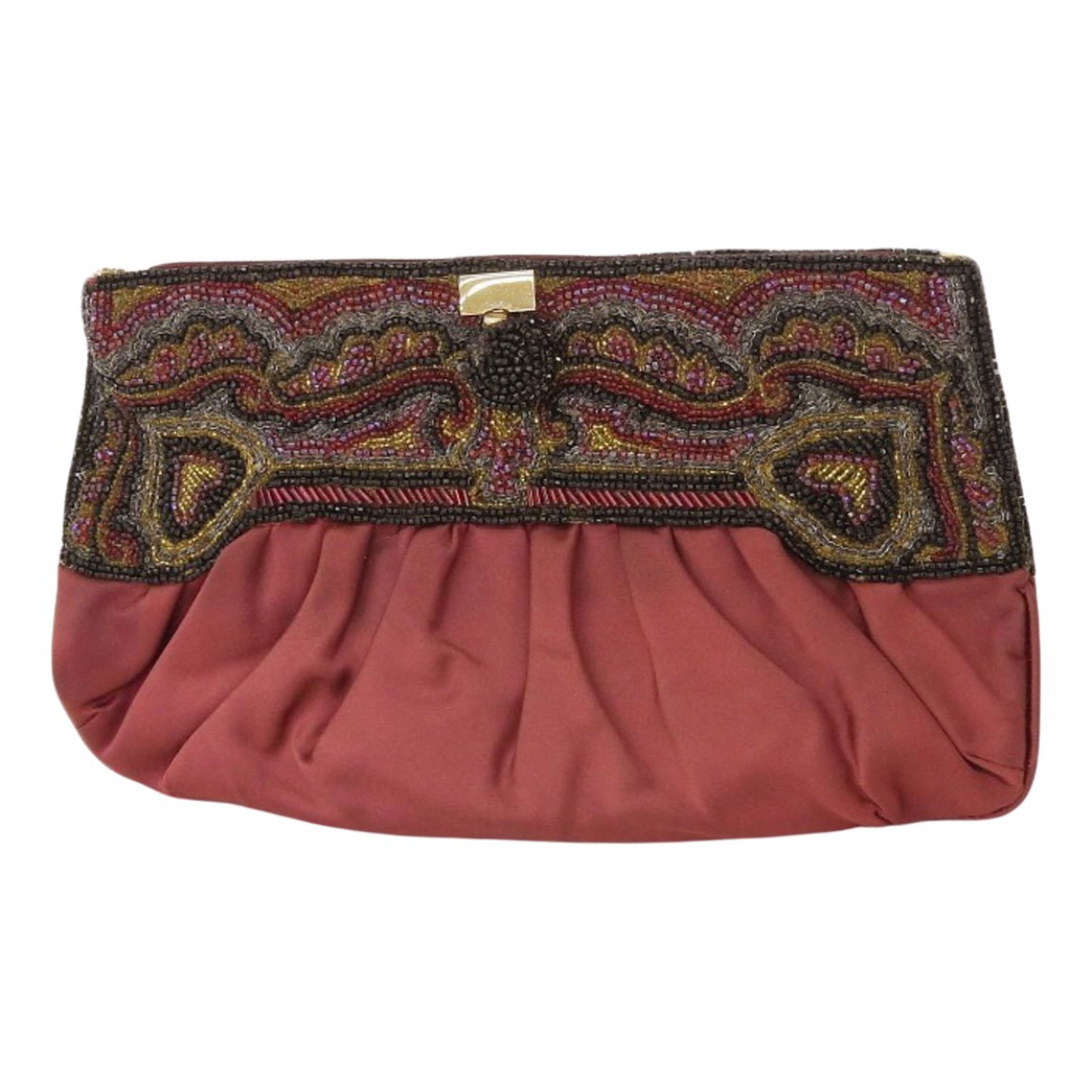 Gucci \N Burgundy Cloth Clutch bag for Women \N
