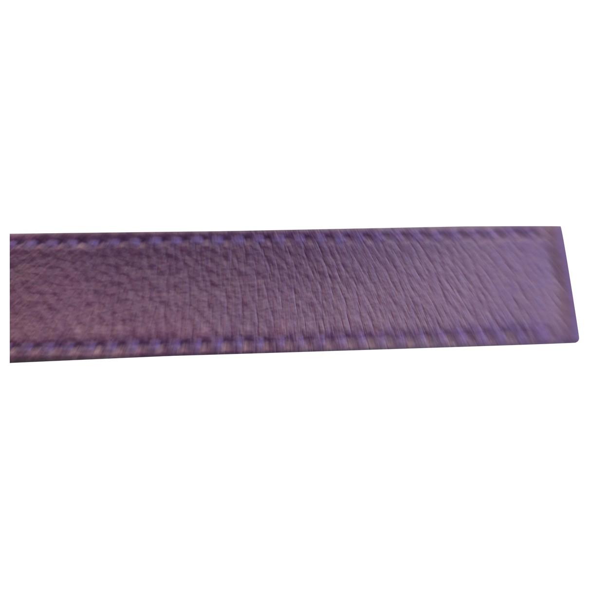 Poiray Bracelet Ma Première Purple Leather watch for Women \N
