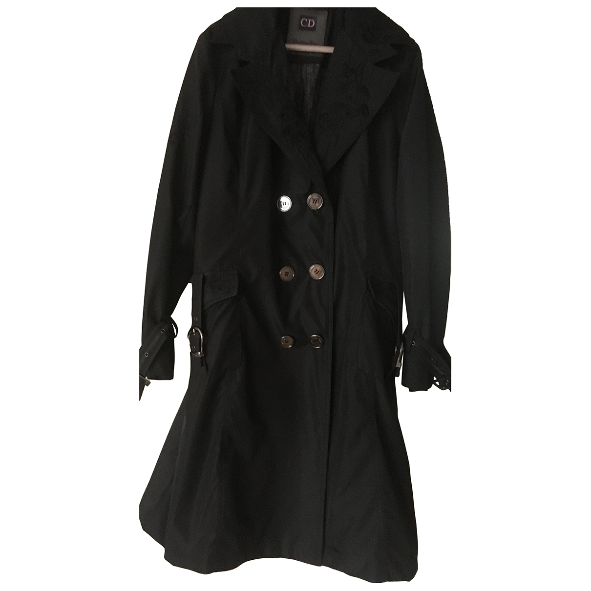 Dior \N Black Cotton Trench coat for Women 40 FR