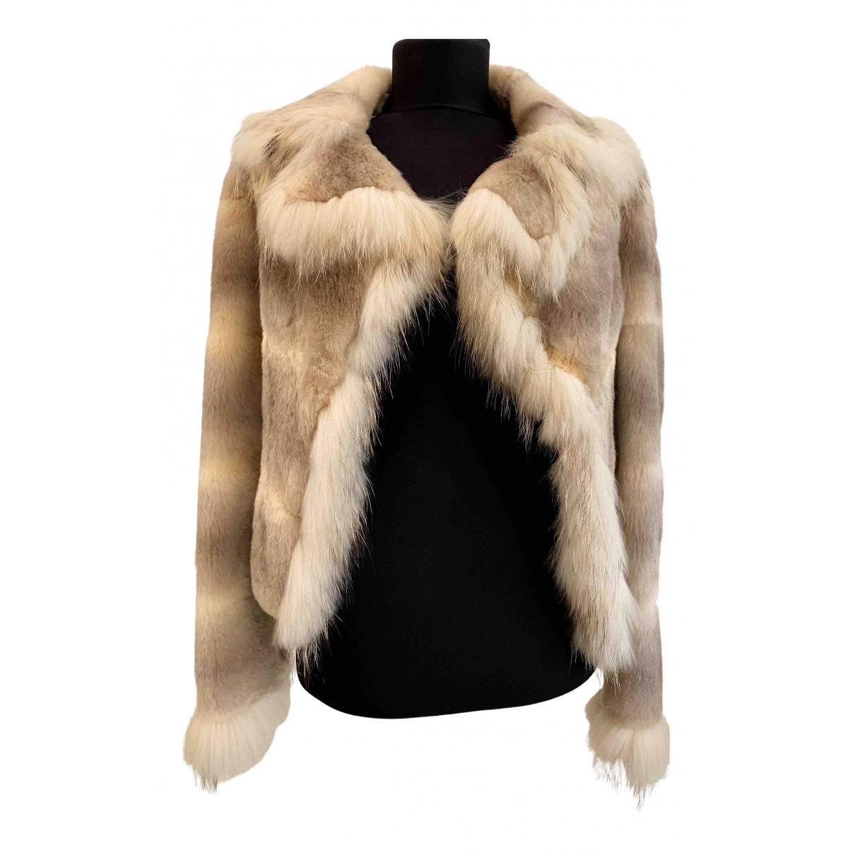 Versace Jeans N Beige Fur coat for Women XS International